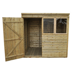 Forest Garden Tongue and Groove Pressure Treated Pent Shed