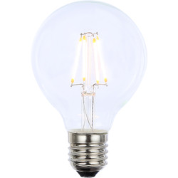 Inlight Vintage LED Filament G80 Globe Bulb Lamp 4W ES 350lm Clear - 43430 - from Toolstation