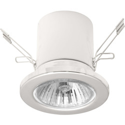 Mains Voltage R50 Downlight White - 43497 - from Toolstation