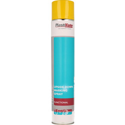 Plastikote Plastikote Upside Down Marking Paint 750ml Yellow - 43520 - from Toolstation