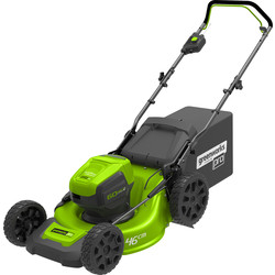 Greenworks 60V Cordless Rotary Lawnmower with Battery & Charger
