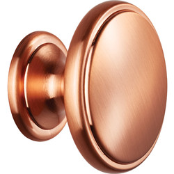 Carlisle Brass Oxford Knob 38mm Satin Copper - 43744 - from Toolstation