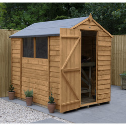 Forest Forest Garden Overlap Dip Treated Shed Apex 7' x 5' - 43764 - from Toolstation