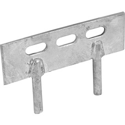 Powapost Galvanised 2 Pin Gravel Board Cleat 50 x 150mm - 43819 - from Toolstation
