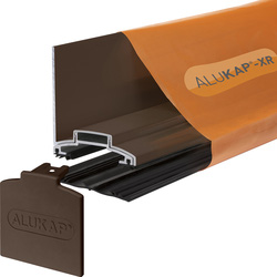 Alukap Alukap-XR Concealed Fix Wall Bar with Gasket Brown 3000mm - 43916 - from Toolstation