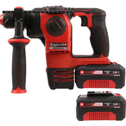 Einhell Power X-Change 18V Herocco SDS+ Brushless Hammer Drill 2 x 3.0Ah