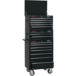 "Draper Draper Combined Roller Cabinet and Tool Chest 26"" 15 drawer - 43949 - from Toolstation"