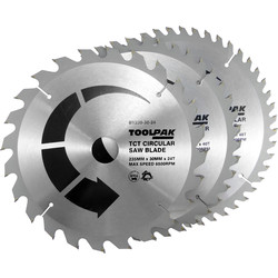 Toolpak Toolpak TCT Circular Saw Blades 235 x 30mm - 43962 - from Toolstation