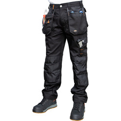 "Scruffs Scruffs Worker Plus Trousers 28"" S Black - 43963 - from Toolstation"