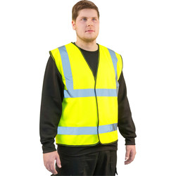 Hi Vis Waistcoat Yellow Large - 43997 - from Toolstation