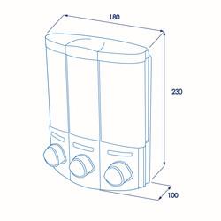 Croydex Euro Trio Soap Dispenser