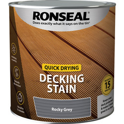 Ronseal Ronseal Quick Drying Decking Stain 2.5L Rocky Grey - 44110 - from Toolstation
