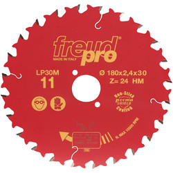 Freud Pro Freud LP30M TCT Saw Blade for Long/Cross Grain Cutting 190 x 30mm x 24T - 44158 - from Toolstation