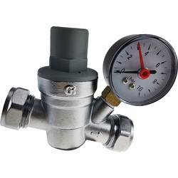 Made4Trade Made4Trade Pressure Reducing Valve and Gauge 15 / 22mm - 44160 - from Toolstation