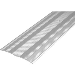 Wide Carpet Plate Silver - 44175 - from Toolstation