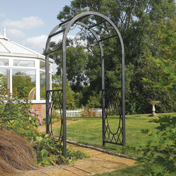 Rowlinson Rowlinson Wrenbury Round Top Arch 220cm (h) x 110cm (w) x 61cm (d) - 44207 - from Toolstation