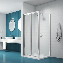 Merlyn Nix Merlyn NIX Bi-Fold Shower Enclosure Door and Side Panel 900 x 900mm - 44247 - from Toolstation