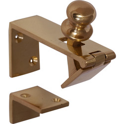 Unbranded Counter Flap Catch Brass - 44251 - from Toolstation