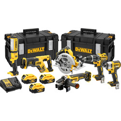 DeWalt DCK623P3-GB 18V XR Brushless Compact 6 Piece Kit 3 x 5.0Ah
