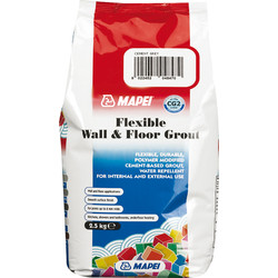 Mapei Mapei Flexible Wall & Floor Grout 2.5kg Cement Grey - 44307 - from Toolstation