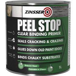 Zinsser Zinsser Peel Stop Primer Paint Clear 1L - 44309 - from Toolstation