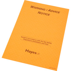 Report Pads Warning / Advice Notice