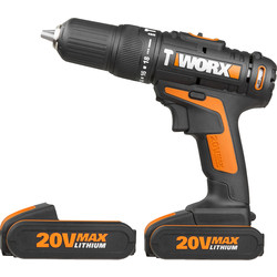 Worx Worx WX386 20V Cordless Combi Drill 2 x 2.0Ah - 44346 - from Toolstation