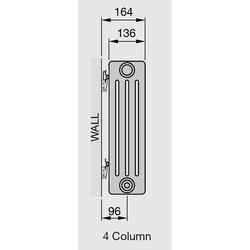 Arlberg 4-Column Vertical Radiator