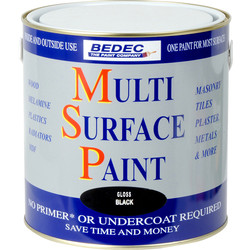 Bedec Multi Surface Paint Gloss Black 2.5L