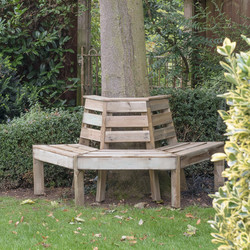 Forest Forest Garden Timber Tree Seat 85cm (h) x 166cm (w) x 75cm (d) - 44460 - from Toolstation