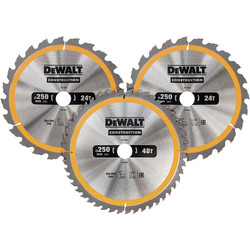 DeWalt DeWalt Construction Circular Saw Blades 250mm - 44475 - from Toolstation