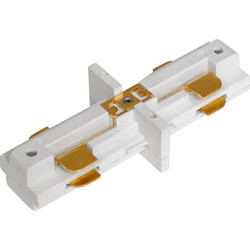 Robus 240V Spotlight Track Connector White - 44589 - from Toolstation