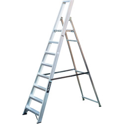TB Davies TB Davies Industrial Platform Step Ladder 8 Tread SWH 3.3m - 44619 - from Toolstation