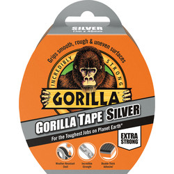 Gorilla Cloth Duct Tape Silver 48mm x 11m