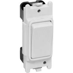 White Grid Switch 1 Gang 1 Way 10A - 44672 - from Toolstation