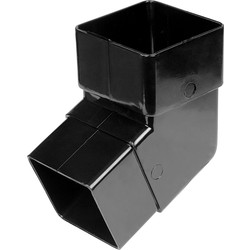 Aquaflow 65mm Square Offset Bend 112.5° Black - 44764 - from Toolstation