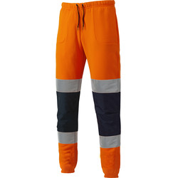 Dickies Two Tone High Vis Jogger Orange / Navy Small