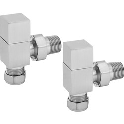 Reina Loge Brushed Valve Angled - 44863 - from Toolstation