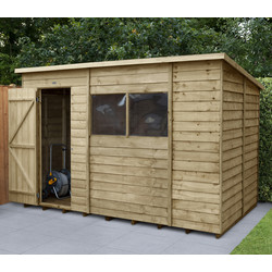 Forest Forest Garden Overlap Pressure Treated Shed 10' x 6' - 44868 - from Toolstation