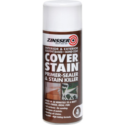 Zinsser Zinsser Cover Stain Primer Sealer Spray Paint White 400ml - 44887 - from Toolstation
