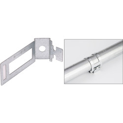 D Line Trade D-line Safe-D Conduit Clip 20mm Silver - 44916 - from Toolstation