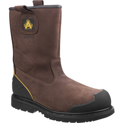 Amblers Amblers FS223 Safety Rigger Boots Brown Size 9 - 44935 - from Toolstation