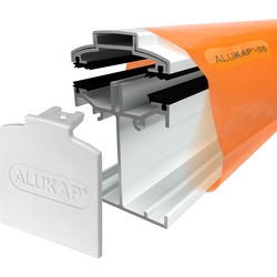 Alukap Alukap-SS Self Support Bar White 3000mm - 44962 - from Toolstation