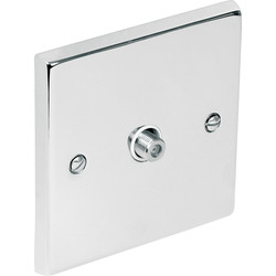Chrome TV / Satellite Socket Outlet Satellite Single - 44977 - from Toolstation
