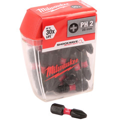 Milwaukee Shockwave Impact Screwdriver Bits PH2 x 25mm