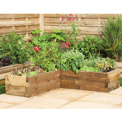 Forest Forest Garden Caledonian Corner Raised Bed 28cm (h) x 131cm (w) x 131cm (d) - 45119 - from Toolstation