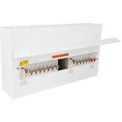 Axiom Axiom Metal 17th Edition Amendment 3 High Integrity Dual RCD + 12 MCBs Consumer Unit 15 Way - 45158 - from Toolstation