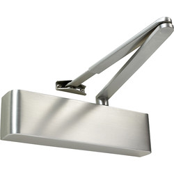 Rutland Rutland TS.9205 Door Closer Satin Stainless Steel Size 2-5, With Cover - 45207 - from Toolstation
