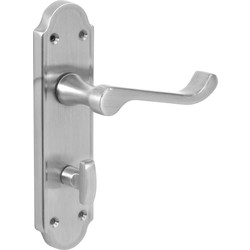 Jedo Mandara Door Handles Bathroom Satin - 45249 - from Toolstation