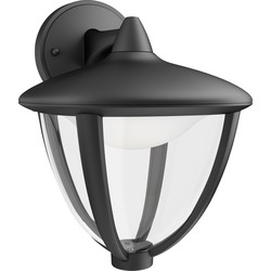 Philips Philips LED Robin Outdoor Hanging Wall Lantern IP44 4.5W Black 430lm - 45290 - from Toolstation
